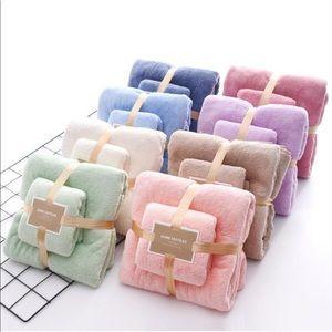 Super soft Coral Velvet Bath Towel pair